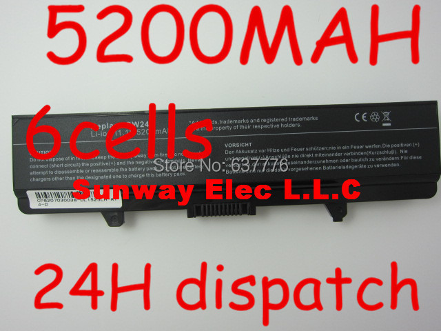 5200MAH Laptop Battery FOR Dell GW240 297 M911G RN873 RU586 XR693 for Dell Inspiron 1525 1526 1545 notebook battery x284g(China (Mainland))