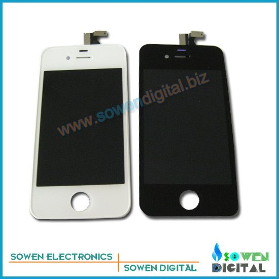 Free shipping for iPhone 4 4G LCD Display+Touch Screen Digitizer +Frame,white and black,100% gurantee