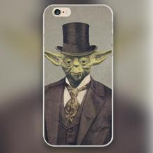 Sir Yodington Design transparent plastic case cover cell mobile phone cases for Apple iphone 4 4s 5 5c 5s 6 6s 6plus hard shell