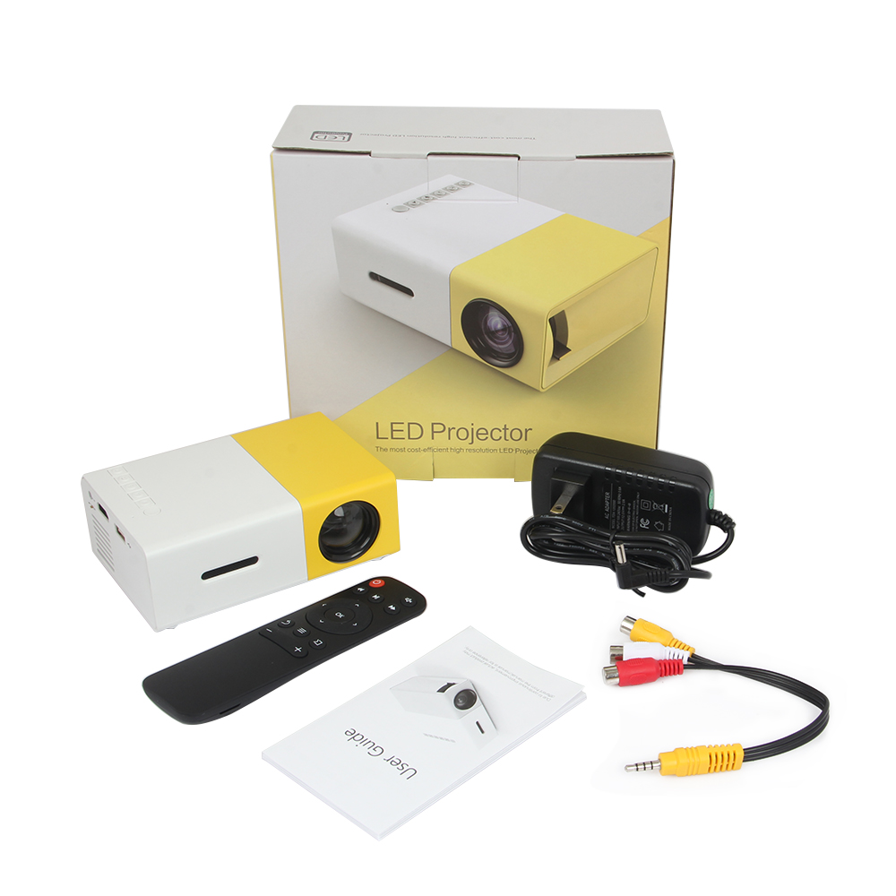 2016 The New Listing Yellow Mini YG300 LCD 400 - 600 Lumens 320 x 240 Pixels Audio Interface Home Projector Media Player(Hong Kong)