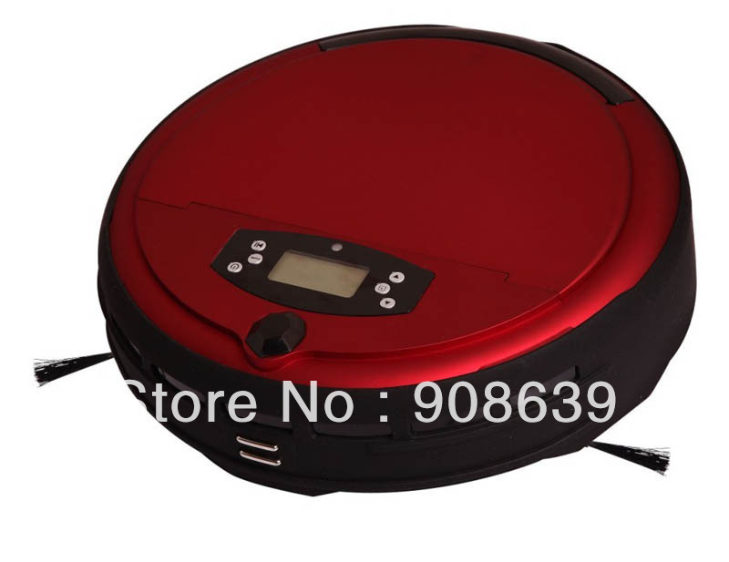 Free Shipping Voice Function Robot Vacuum Cleaner For Home With Two Side Brush+Wet&Dry Mop+Clean Time Set+UV light+Self Recharge(China (Mainland))