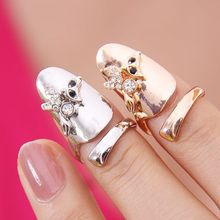 2015 Time limited Ruby Jewelry J183 Europe Selling Korean Fashion Personality Ring Opening Kitten Nails Wholesale