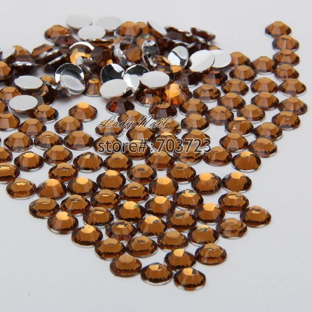 400 pcs 2mm - 6mm Mix Size Coffee Brown Resin Acrylic Round Rhinestone Flatback Crystal Rhinestones Nail Art Decoration N18(China (Mainland))