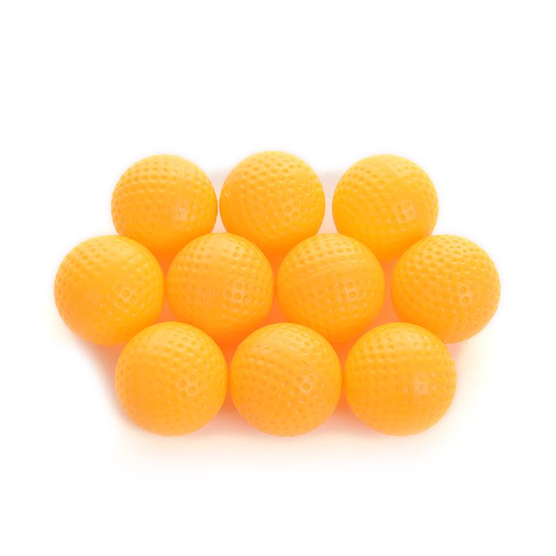 10pcs/Set Yellow Plastic Elastic Golf Balls Golf Practice Training Balls Training Aids Golf Accessories Hot Sale(China (Mainland))