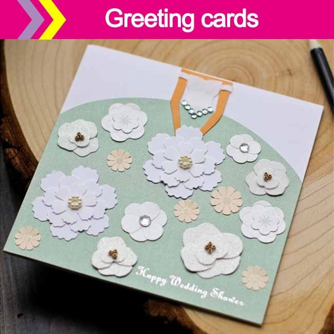DIY happy marriage greeting cards
