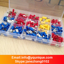 260Pcs Assorted Crimp Terminals Set Insulated Terminals Electrical Crimp Connector Spade Ring Fork Assortment Kit Free Shipping