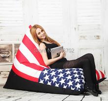 free shoping  removable and washable lazy beanbag fashion zebra stripes lazybones leisure sofa(China (Mainland))