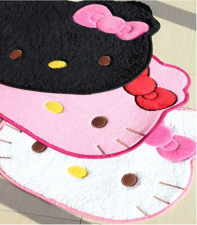 cartoon hello kitty carpet party decoration tapetes mat. Black Bedroom Furniture Sets. Home Design Ideas