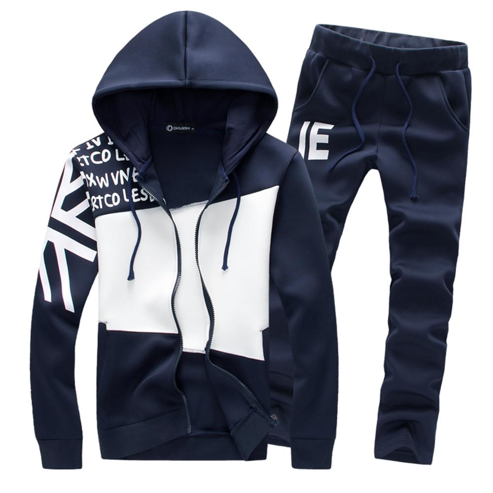 2015 New Fashion Autumn Mens Zipper Cardigan Sportswear Male Casual Sweatshirt Sport Suit Slim Fit Hoodies Men Clothing LW002