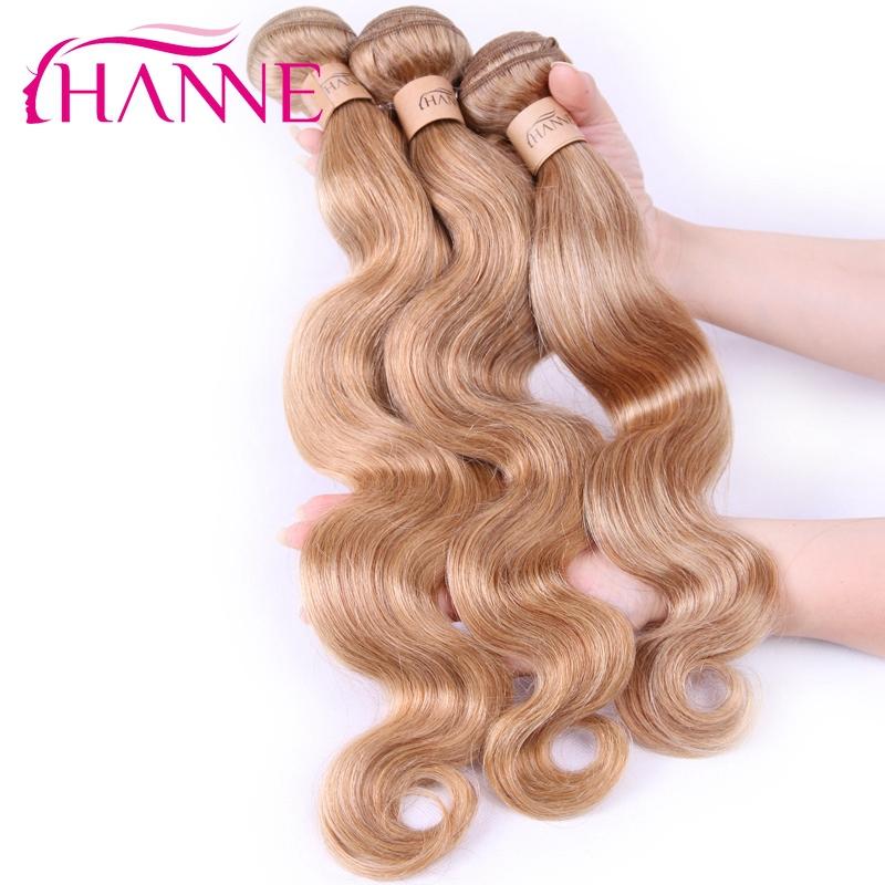 Гаджет  Honey blonde #27 brazilian hair weave body wave extensions 3 bundles /lot HANNE blonde 27 virgin hair body wave human hair weft None Волосы и аксессуары