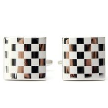 Beautiful Design 2pcs Stainless Steel Silver Square Lattice Mens Cufflinks Wedding Business Gift Hot Sale(China (Mainland))