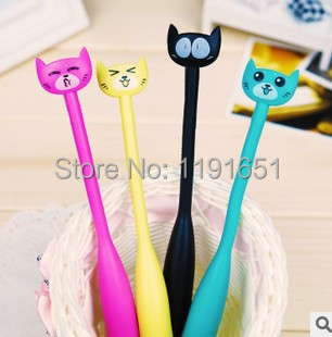 Animal finger ballpoint pen, Fun ballpoint pen gestures, many colors  cat cartoon style childrens gifts Free shipping 8pcs/lot <br><br>Aliexpress