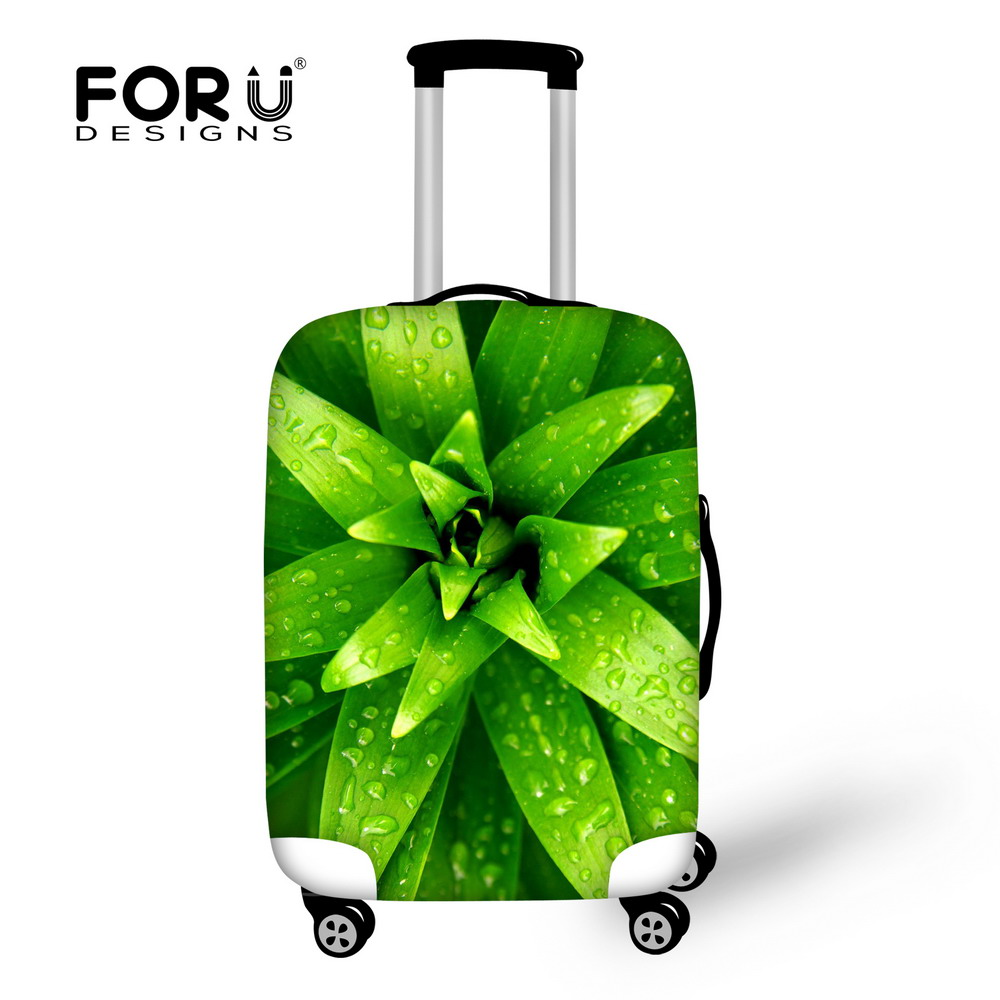 New Fashion Dust Rain Protective Cover for 18-30 inch Trolley Case Perfectly Thick Luggage Covers 3D Plants Print Baggage Cover(China (Mainland))