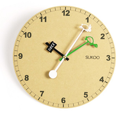 brief styole home decoration accessories Sukoo wooden wall clock - U Design Home store