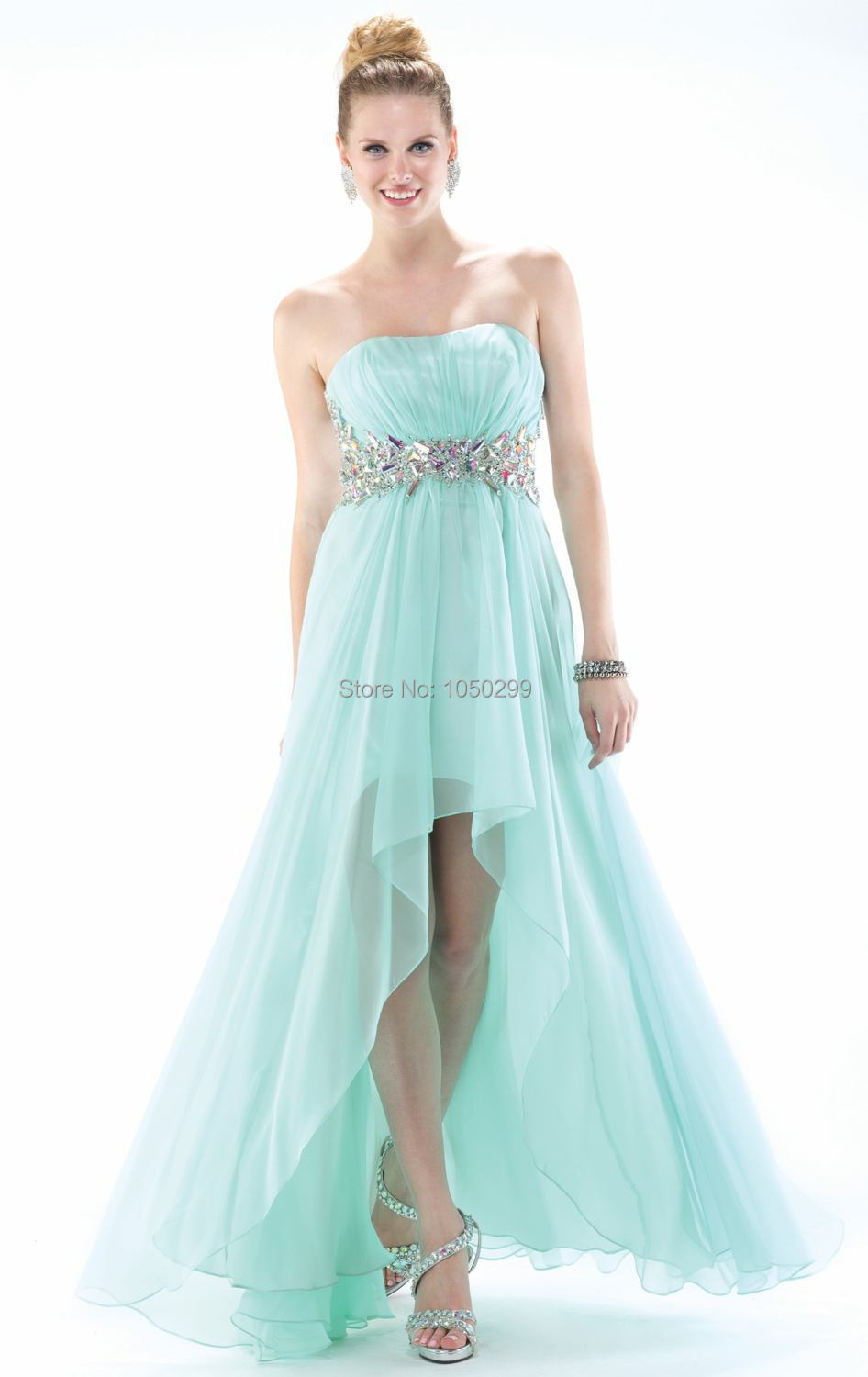 Funky Short In The Front Long In The Back Prom Dresses Frieze - All ...