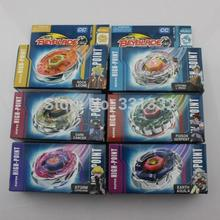 6 estilo Beyblade Beyblade metal fusion BB43 BB47 BB50 BB59 BB65 BB69 niños juguetes Beyblade juguete de regalo navidad S5(China (Mainland))