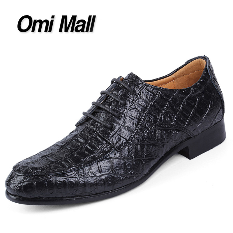 2015 New Autumn Men Flats Shoes Pointed Toe Aligator Leather Men Dress Shoes Business Office Lace-up Men Oxford Shoes(China (Mainland))