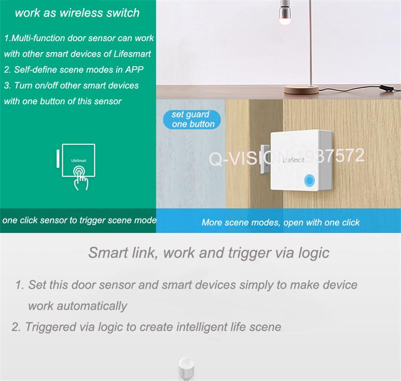 Lifesmart Multifunctional DoorWindow Sensor Security Alarm Wireless GSM3G4GWiFi Smart Home Motion Detect 433 Control by APP-6