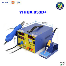 Buy YIHUA 853D+ 3A Mobile Phone Repairing 3 1 Soldering Station / Rework Station for $126.00 in AliExpress store