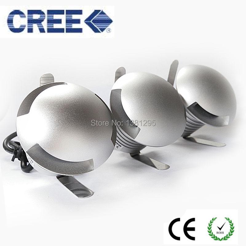 CREE LED IP67 12V 24V Outdoor Garden Patio Paver Recessed Deck Floor Wall LED Underground Lamp Light Landscape Sidewalk Lighting(China (Mainland))