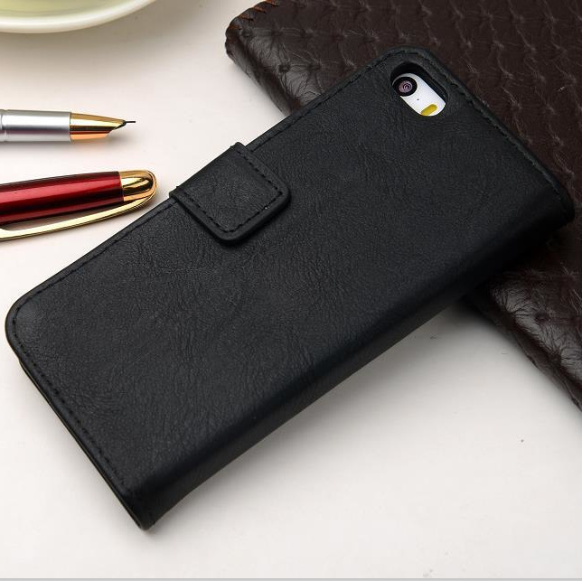 Cowhide Leather Cell Phones Case For iPhone 5 5S 5G Luxury Cow Leather For i Phone5 Filp Stand With Card Hole Phone Cases Covers(China (Mainland))