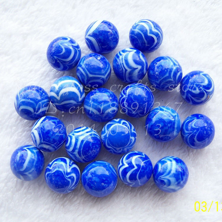 Solid White Toy Marbles : Free shipping pieces bag solid blue with white line