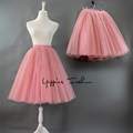 Best Quality 7 Layers Maxi Long Tutu Tulle Skirts Womens Elegant Pleated Skirt Vintage Lolita