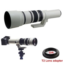 Buy 500mm f/6.3 Telephoto Fixed Prime Lens + Free T2 Mount Adapter Canon Nikon Sony Olympus Pentax Camera DSLR for $143.65 in AliExpress store