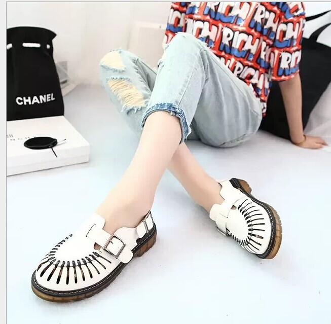 2015 Sale s Creepers Shoes Women New Korean Version Of Hollow Header T Sandals Shoes Wholesale Cute College Student Wind(China (Mainland))