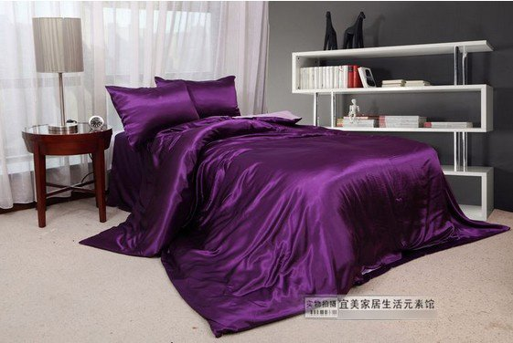 120394  free shipping Silk bedding set  / 4pcs bedding set / silk home textile