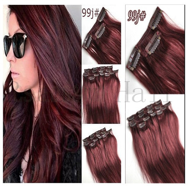 Remy Hair Clip Ons 90