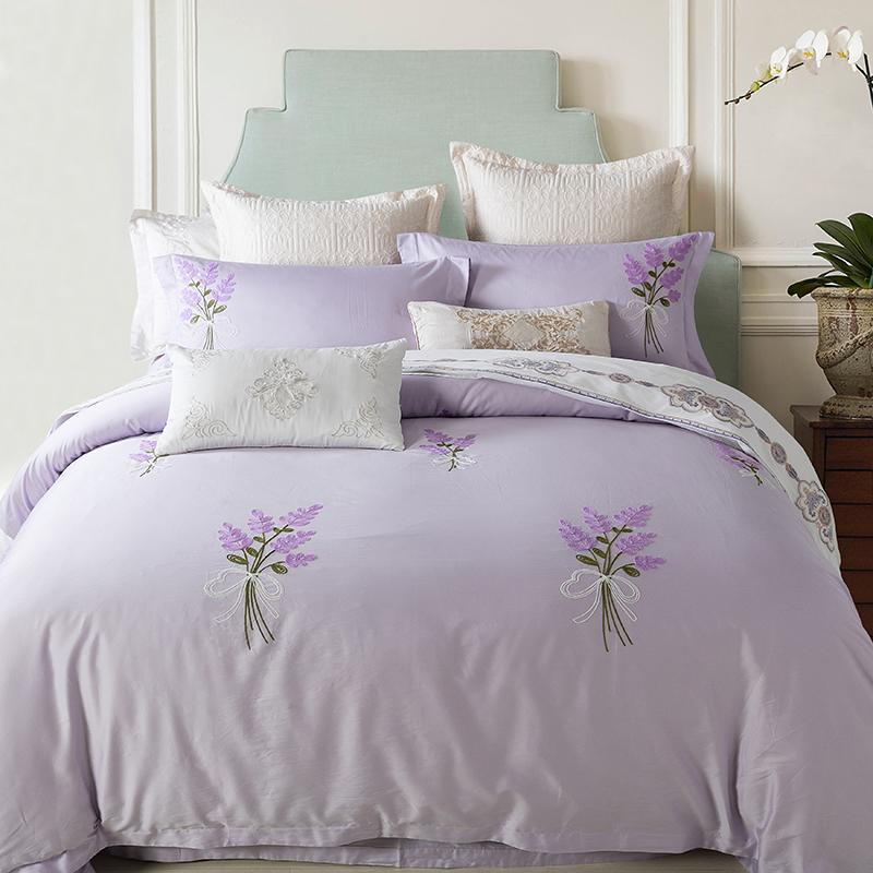 online kaufen gro handel lavendel bettw sche aus china lavendel bettw sche gro h ndler. Black Bedroom Furniture Sets. Home Design Ideas