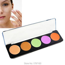 5 Colors Professional Concealer Facial Face Cream Care Camouflage Makeup Palettes Cosmetic Free shipping