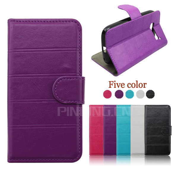 7 Color Transverse Line Fashion Luxury Stand Design Leather Case Cover For Alcatel One Touch Pop C5 5036 OT5036 5036D(China (Mainland))