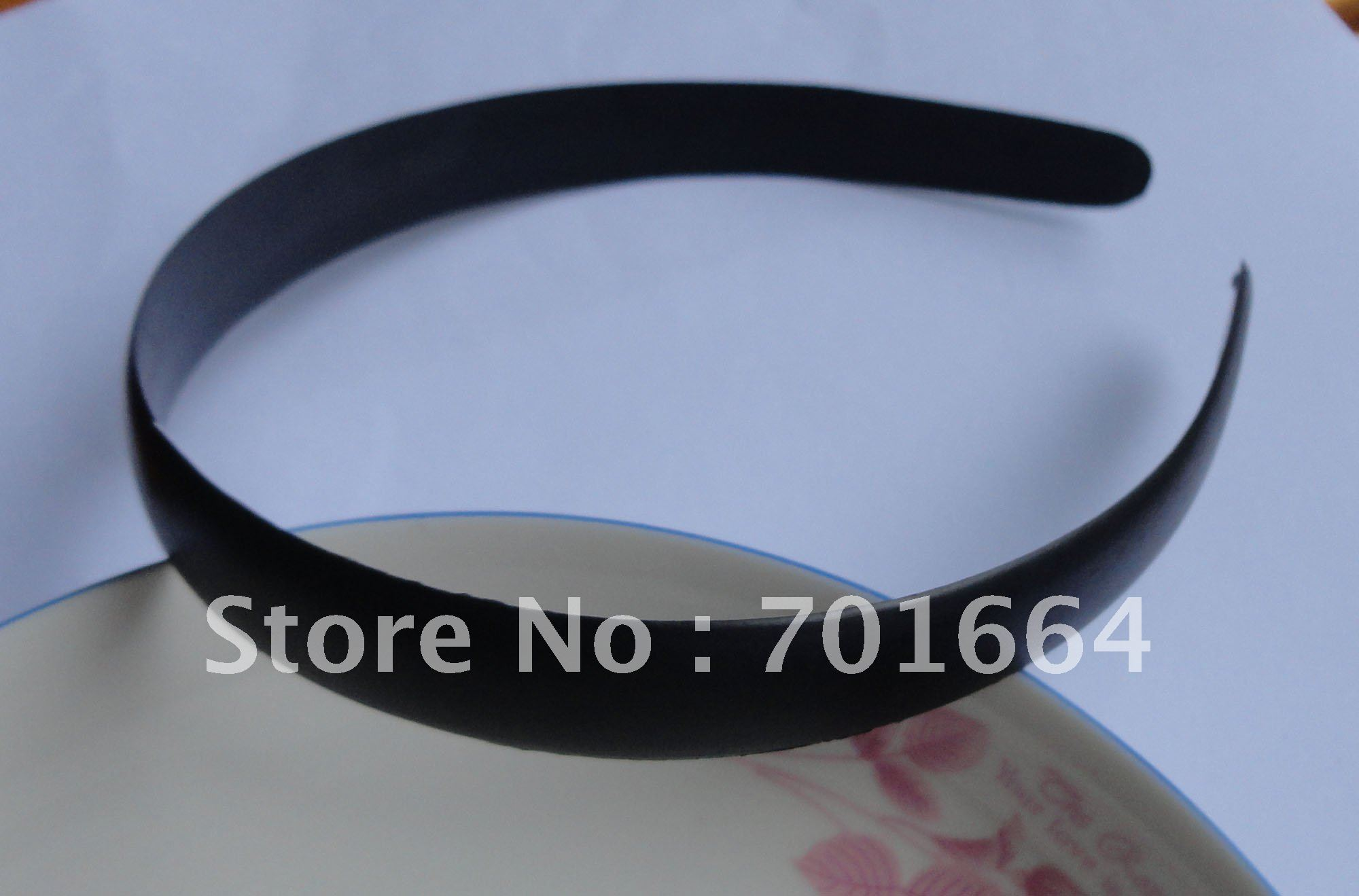 10PCS 17mm half round surface Black Plain Plastic Hair Headbands without teeth as DIY accessories(China (Mainland))