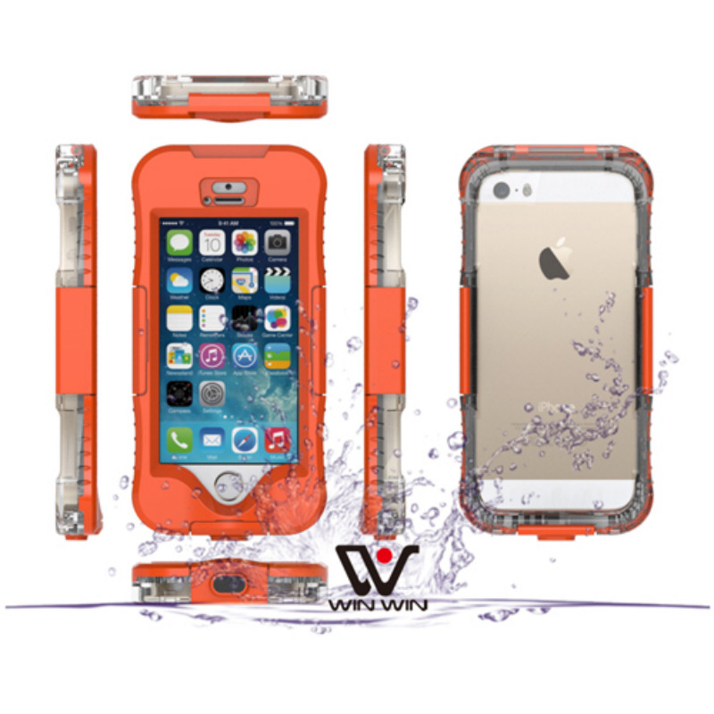 2016 hot sale shockproof Dustproof Underwater Diving Waterproof Cases For iphone 5/5s/se Phone Bag Shell Outdoor Cover