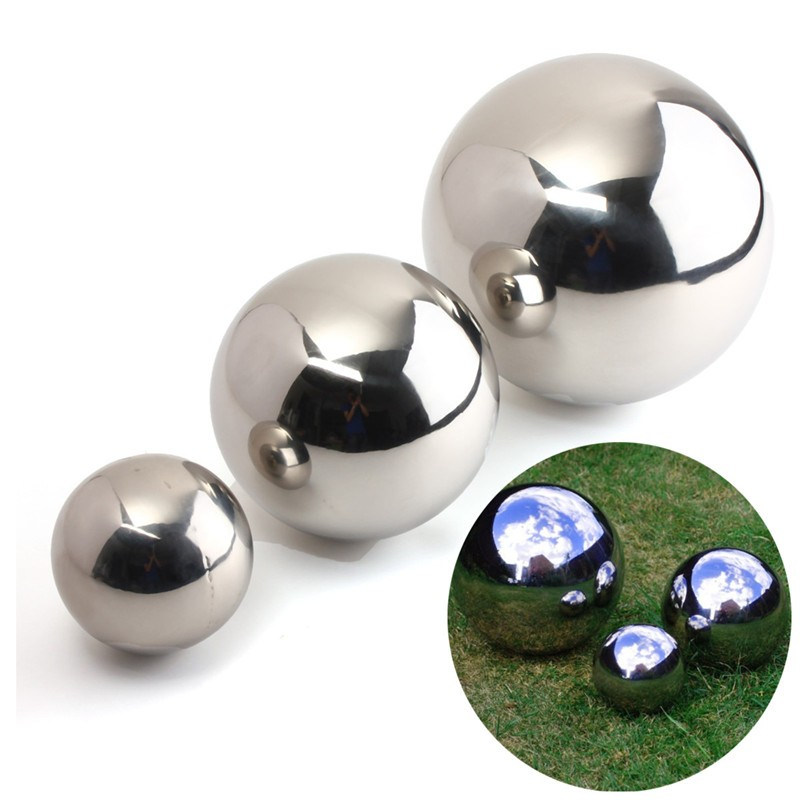 Hot Sale high brightness shine sphere Stainless Steel Mirror Sphere 9cm/13.8cm/18cm hollow ball metal decorative accessories(China (Mainland))