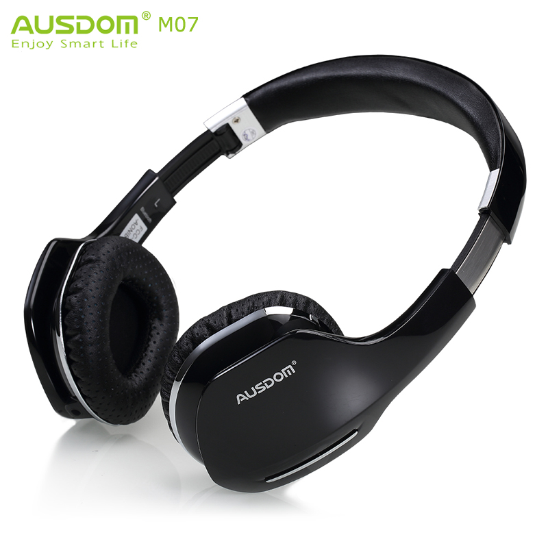 Ausdom M07 Wireless Bluetooth Headphone Foldable Stereo Music Bluetooth V4.0 Headset Handsfree With HD Mic For Phone Tablet(China (Mainland))