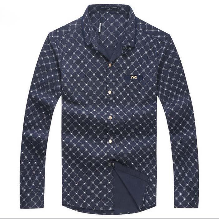 Top Designer Brand 2015 Autumn New Young Men 100% Cotton Slim Fit Plus Size Long Sleeve Plaid Shirt Luxury Fashion Male Shirt(China (Mainland))