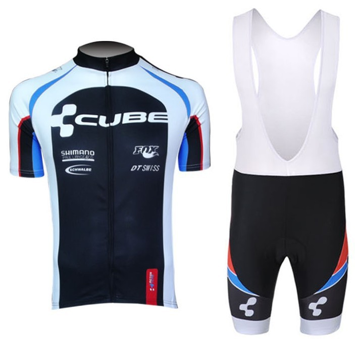 2013 NEW!!! CUBE bib short sleeve cycling jersey wear clothes bicycle/bike/riding jersey+bib pants shorts