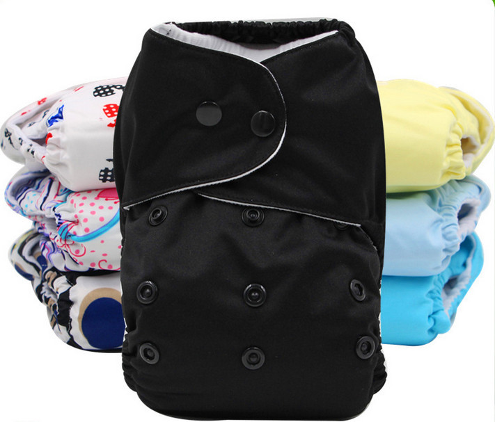 New arrival 1 pieces Naughty Kids high quality black happy aio cloth diaper cool baby reusable eco cloth diapers cheap(China (Mainland))