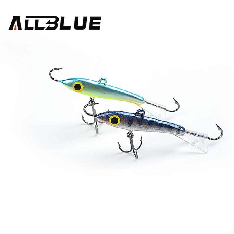 ALLBLUE Ice Fishing Jig Head Hard Lure Wobbler 9g 6g 18g Jigging Rap Lure With Treble Hook For Winter Fishing Lures(China (Mainland))