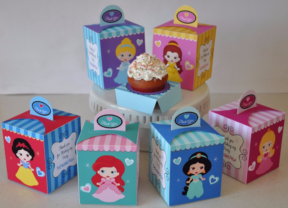 Princess Party Supplies Baby Shower Favor Box Candy Box 20PCS/lot Birthday Party Decorations Kids Event & Party(China (Mainland))