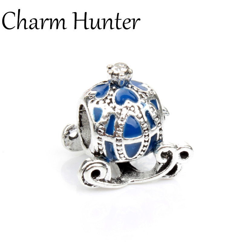 8 colors 2016 Women DIY European pumpkin car Silver Plated Plated Alloy Charm Beads Fit Bracelets & Bangles Necklace(China (Mainland))