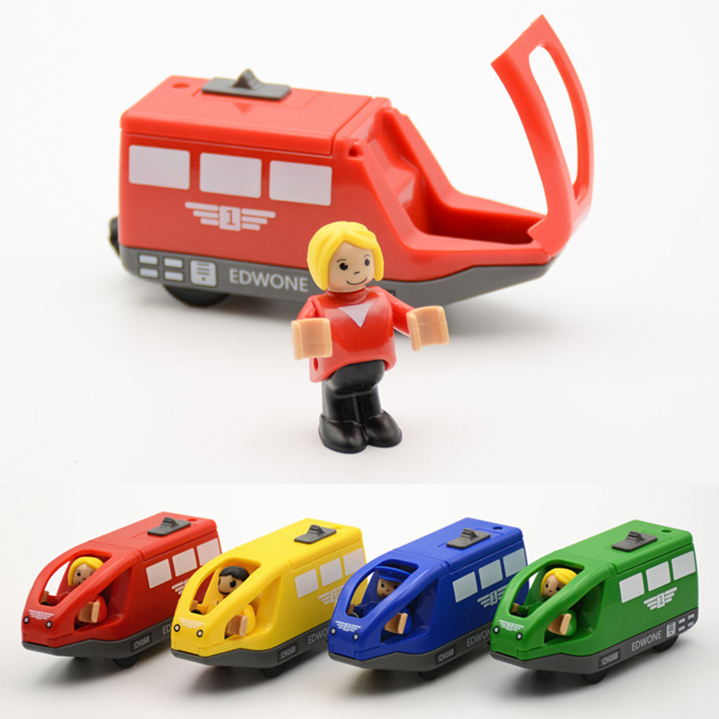 4 Colors Kids Electric Train Toys 11*5.5CM Magnetic Wooden Slot Diecast Electronic Vehicle Toy Birthday Gifts For Children Kids(China (Mainland))