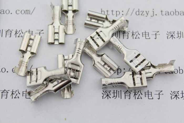 Hot sale Free shipping 6.3 plug sheet 6.3 cord end terminal 6.3 terminal blocks(China (Mainland))