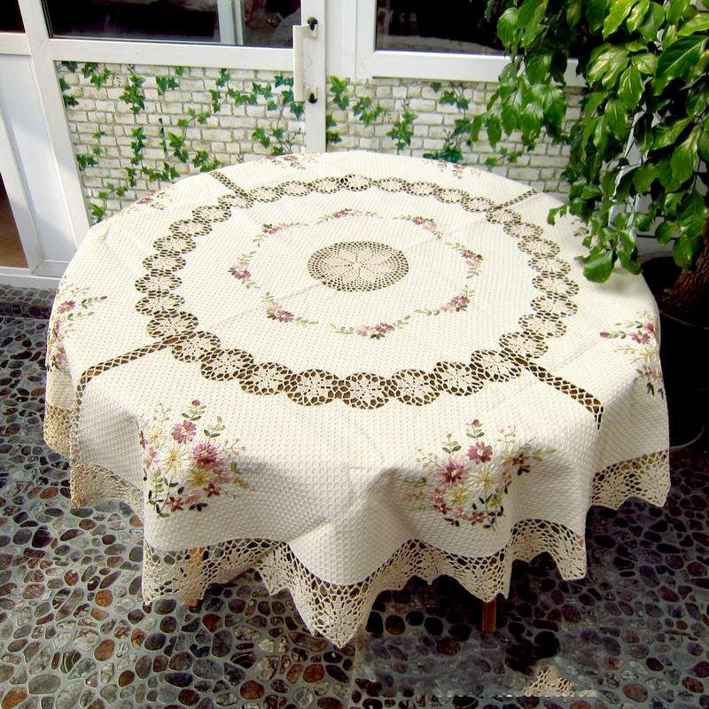 "Free shipping! Handmade Corcheted Tablecloth 70x70""(175CM ROUND) ,Drop Shipping(China (Mainland))"
