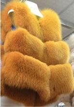 2015 Thick Winter Coats Colete De Pele Feminina Plus Size Faux Fox Fur Vest Outwear Female Sleeveless Vest Fur Waistcoat X797(China (Mainland))