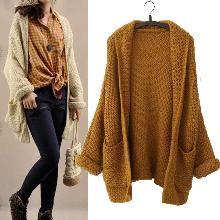 high quality new 2014 new knitting cardigans with pocket