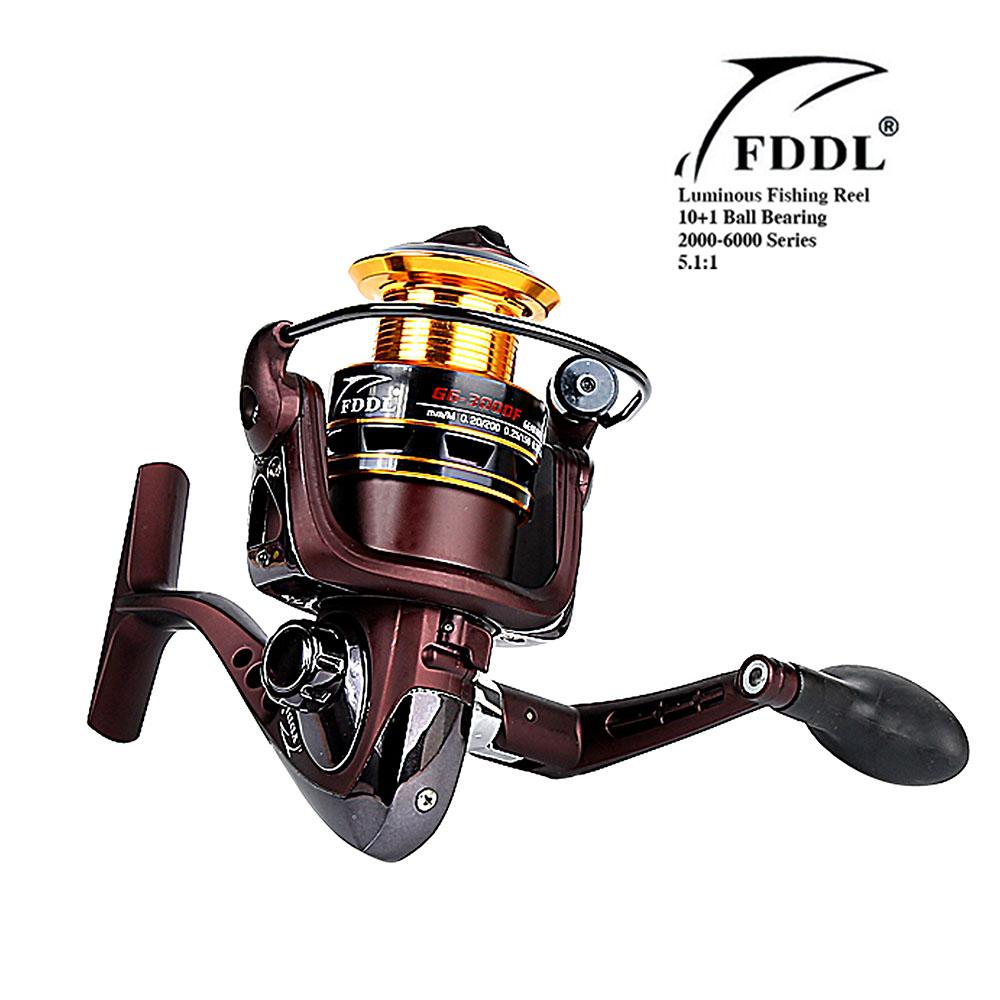 High Quality 5.1:1 Illuminate Luminous Spinning Fishing Reel Carp Fishing Wheel Spinning Reel for Sea Fishing for Night Fishing(China (Mainland))